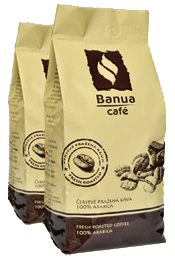 Káva BANUA 250g 3+1 hrubo mletá