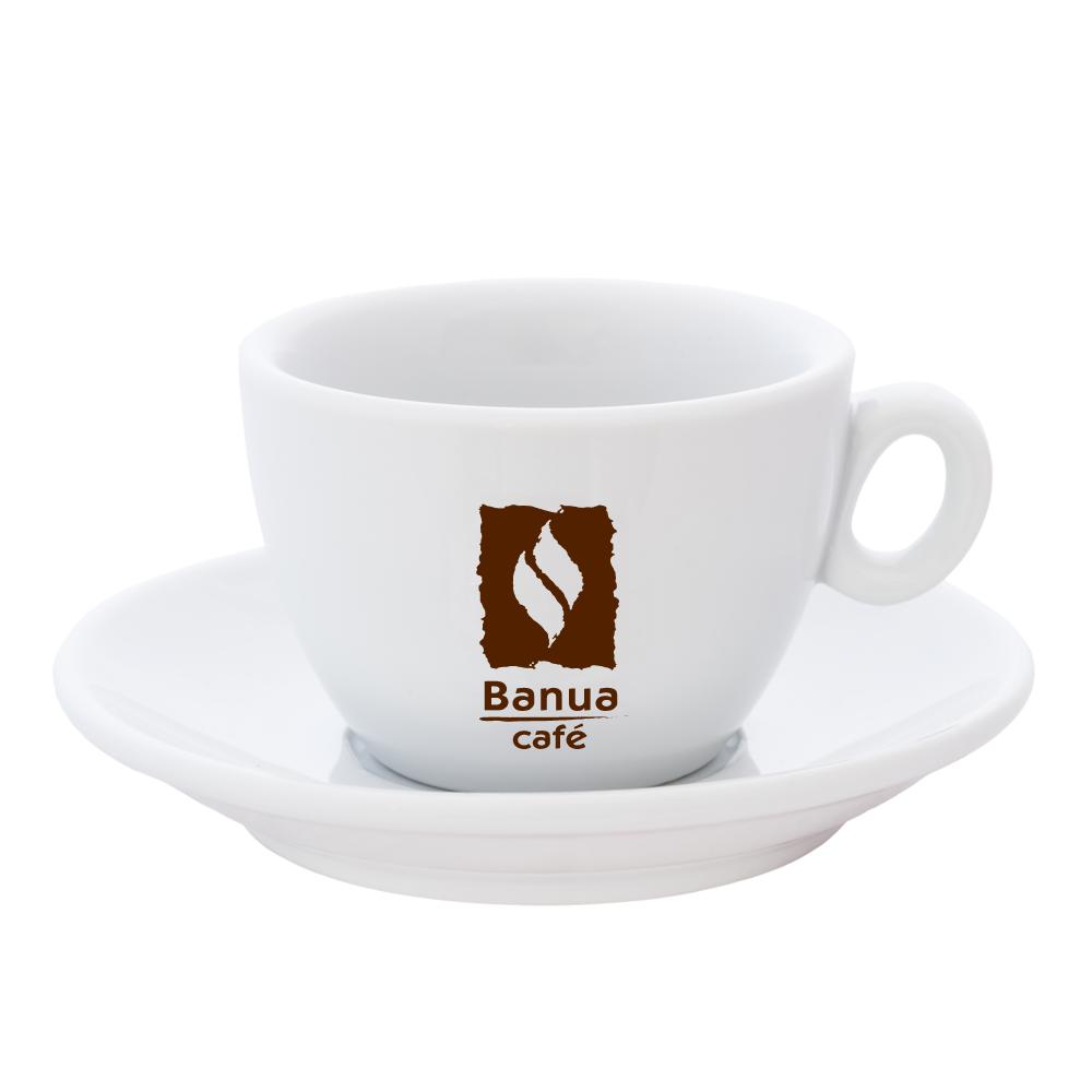 Šálek BANUA cappuccino bílý