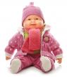 Velká mluvící a zpívajicí panenka s dudlíkem 60cm