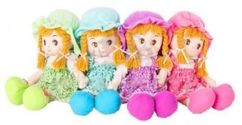 Látková mluvící panenka Zuzanka 50 cm - fialová