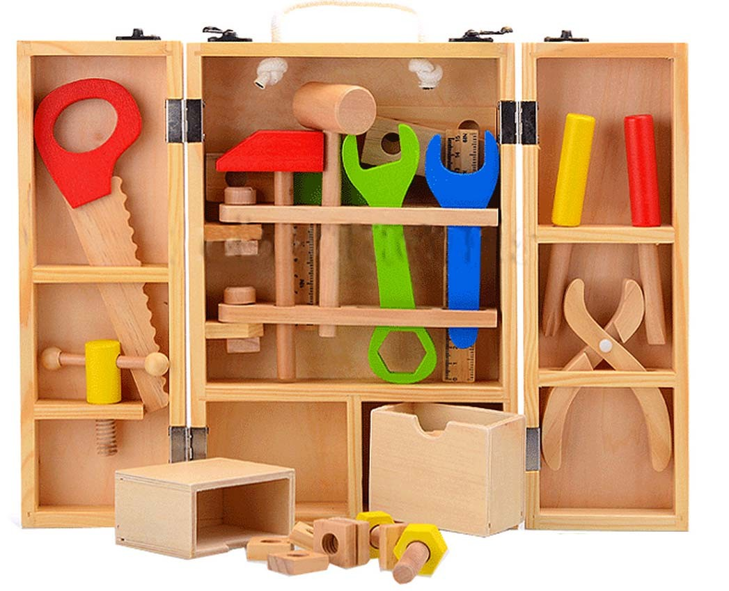 Dřevěné nářadí v kufříku