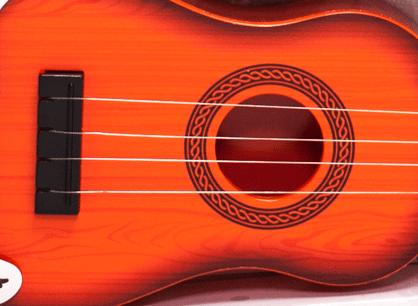 Dětská plastová kytara 55cm - oranžová