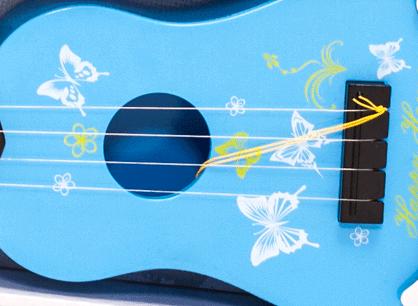 Dětská plastová kytara 55cm - modrá