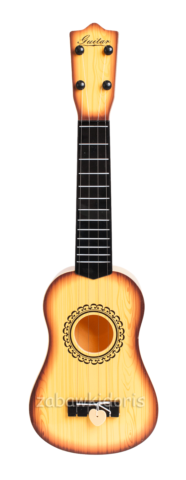 Dětská plastová kytara 55cm - přírodní