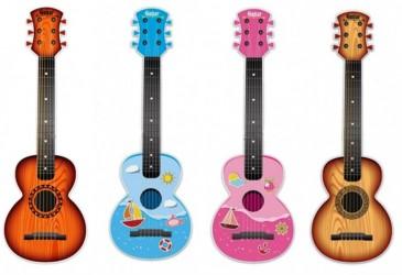 Dětská plastová kytara Doris 65cm
