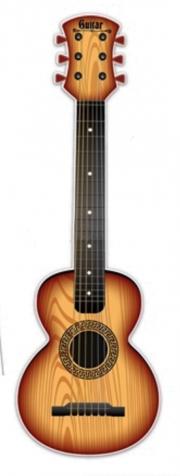Dětská plastová kytara 65cm - přírodní