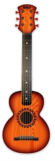 Dětská plastová kytara 65cm - oranžová