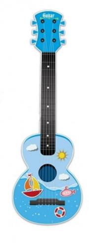 Dětská plastová kytara 65cm - modrá
