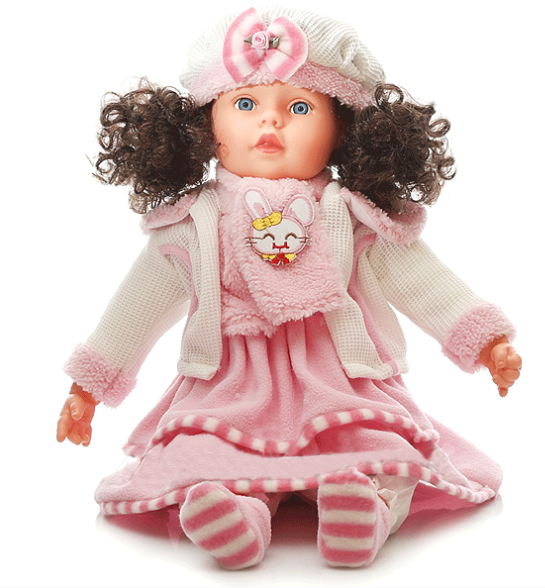 Mluvící a zpívající panenka Doris 60 cm