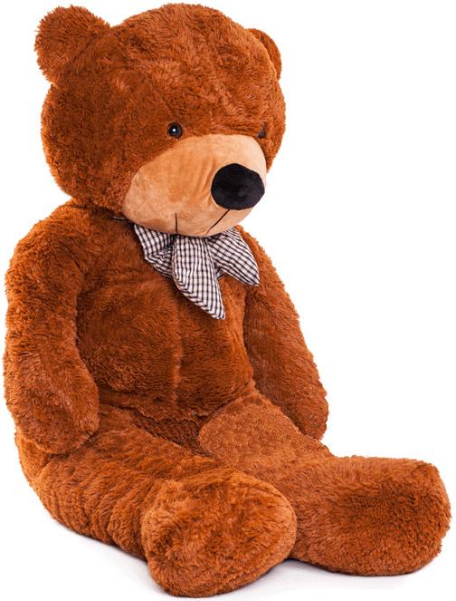 Velký plyšový medvěd 130 cm - tmavě hnědý