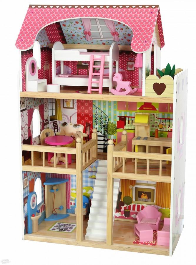 Velký dřevěný domeček pro panenky