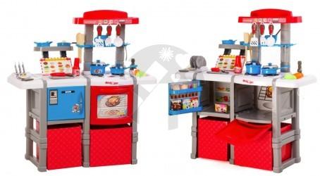 Velká dětská kuchyňka Doris s lednicí a troubou