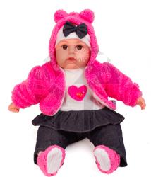 Mluvící a zpívající dětská panenka Doris Baby Girl 45cm