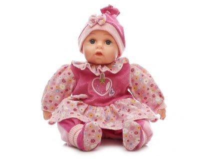 Mluvící a zpívající dětská panenka Baby Girl - růžová s jahodou