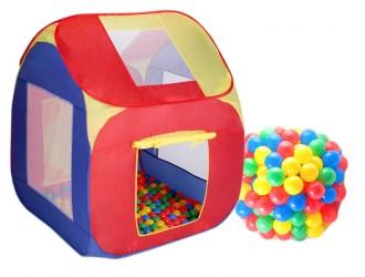 Stan domeček Doris s plastovými míčky
