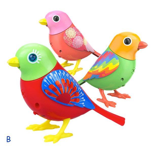 Zpívající ptáček DigiBirds 3v1 - sestava B