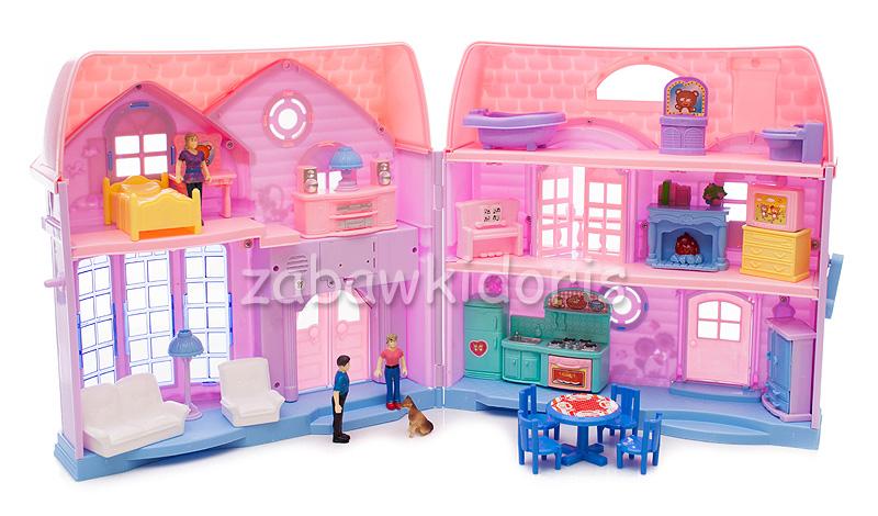 Domeček pro panenky, 72 cm - růžový