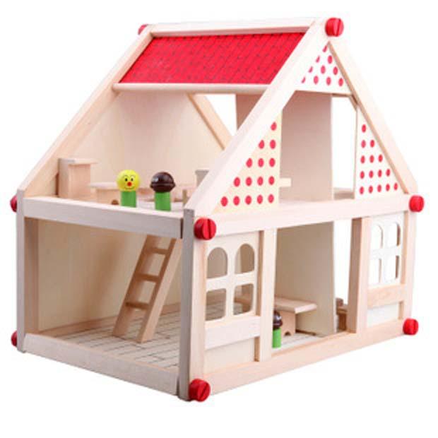 Domeček pro panenky Doris s nábytkem