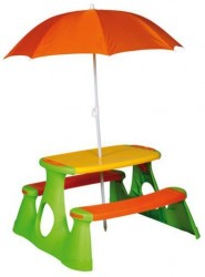 Dětský piknikový stolek se slunečníkem Paradiso