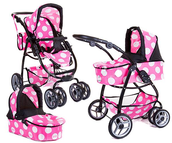 Kombinovaný kočárek pro panenky 9662 - Minnie