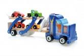 Dřevěný kamion s auty, Scratch
