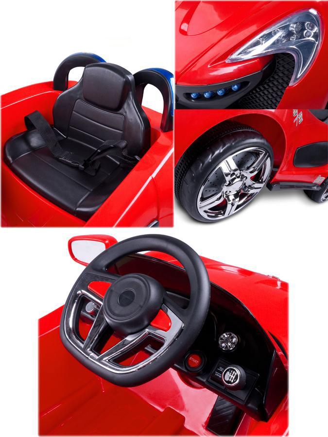 Elektrické autíčko Toyz Aero - 2 motory a 2 rychlosti červené