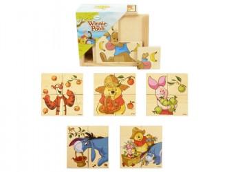 Dřevěné kostky s obrázky Disney 4ks BRIMAREX