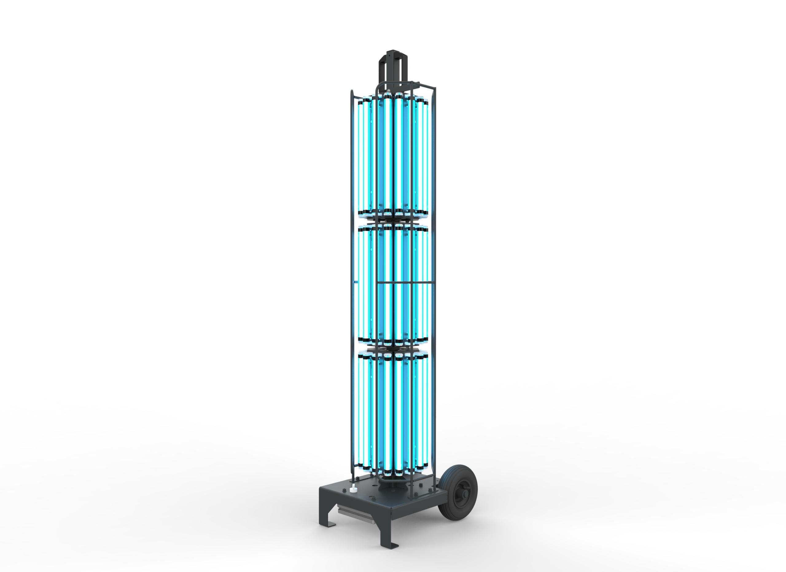 Stojací UV-C lampa 360° pro dezinfekce prostor, 1200W