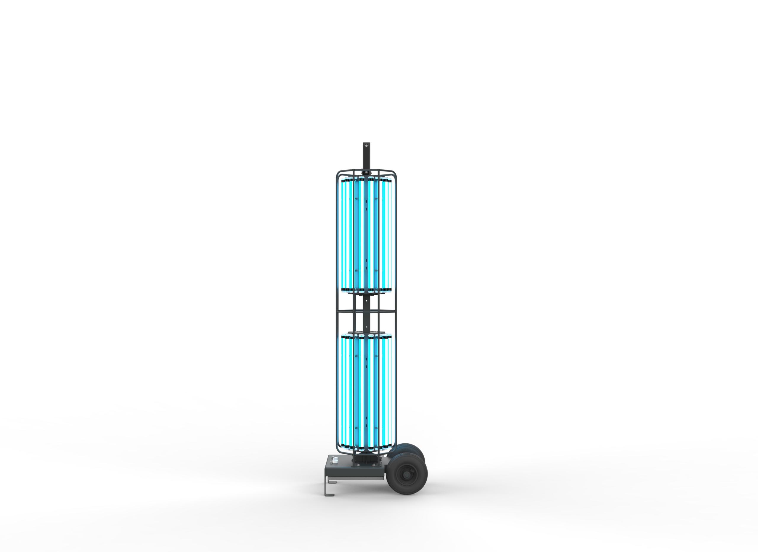 Stojací UV-C lampa 360° pro dezinfekce prostor, 576W