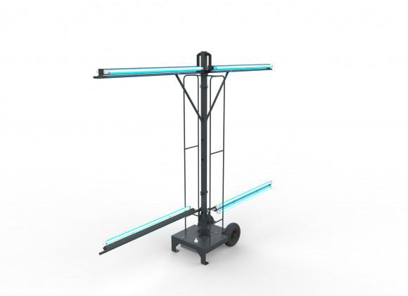 Výklopná UV-C lampa pro dezinfekce prostor, 240W