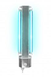 Vollautomatische Wandstrahler mit zwei Leuchstofflampen, 16W