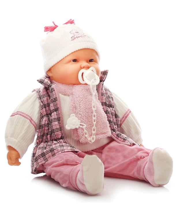 Velká panenka Doris 60 cm s dudlíkem
