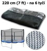 Ochranná síť na trampolínu 220 cm (7 ft) na 6 tyčí