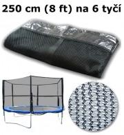 Ochranná síť na trampolínu 250 cm (8 ft) na 6 tyčí