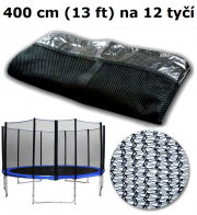Ochranná síť na trampolínu 400 cm (13 ft) na 12 tyčí