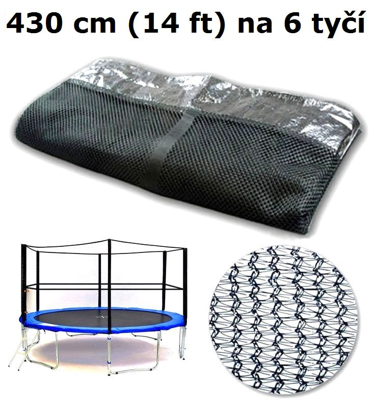 Ochranná síť na trampolínu 430 cm (14 ft) na 6 tyčí
