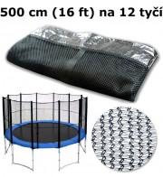 Ochranná síť na trampolínu 500 cm (16 ft) na 12 tyčí