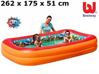 Bazén Bestway Potápěči 3D 262x175x51 cm