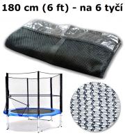 Ochranná síť na trampolínu 180 cm (6 ft) na 6 tyčí