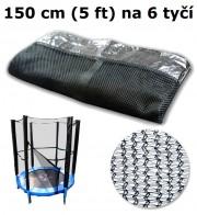 Ochranná síť na trampolínu 150 cm (5 ft) na 6 tyčí