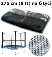 Ochranná síť na trampolínu 275 cm (9 ft) na 6 tyčí