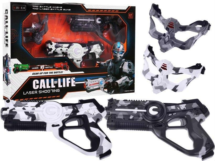 Laserové pistole Call of life s maskou - maskáčové