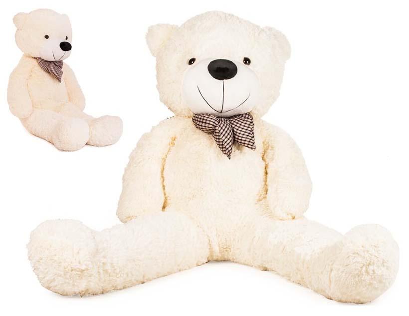 DORIS Velký plyšový medvěd 130 cm - bílý
