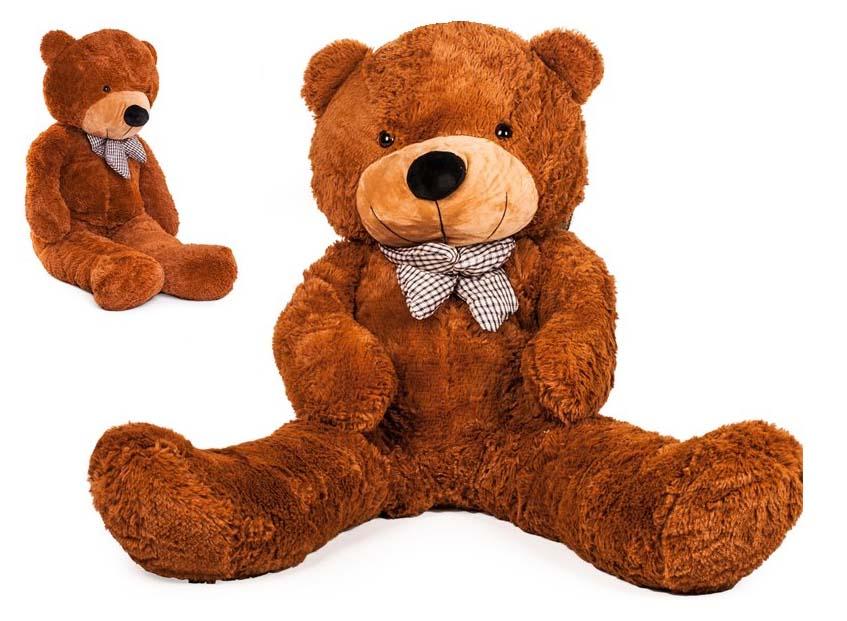 DORIS Velký plyšový medvěd 130 cm - tmavě hnědý