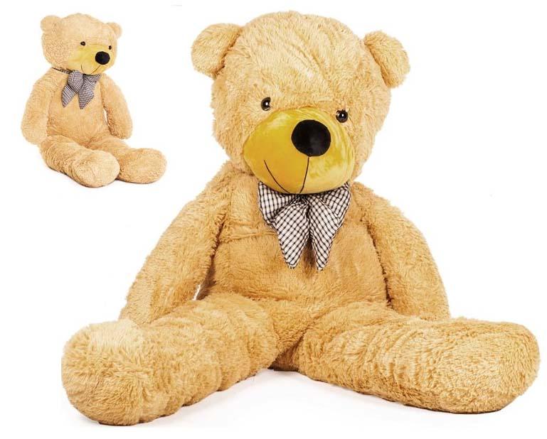 DORIS Velký plyšový medvěd 130 cm - světle hnědý