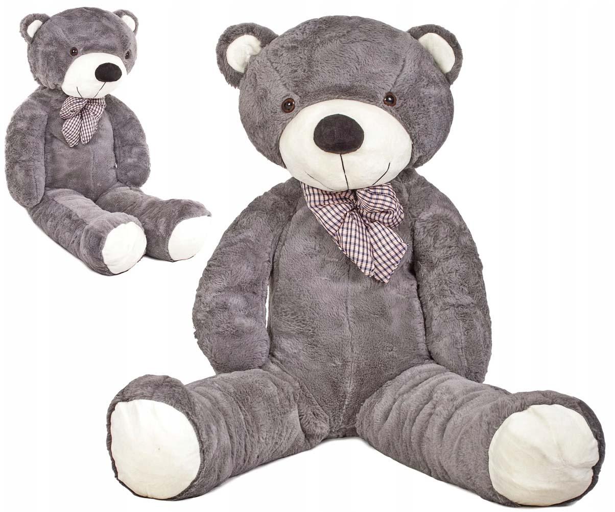 DORIS Velký plyšový medvěd 130 cm - šedý