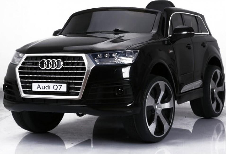 Audi Q7 s 2,4G bluetooth DO, EVA kola, kožená sedačka - černé