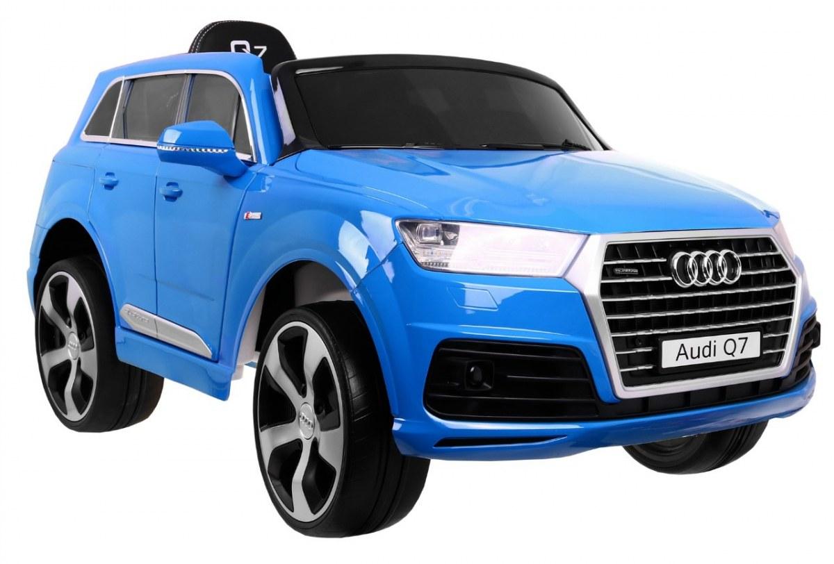 Audi Q7 s 2,4G bluetooth DO, EVA kola, kožená sedačka - lakované modré
