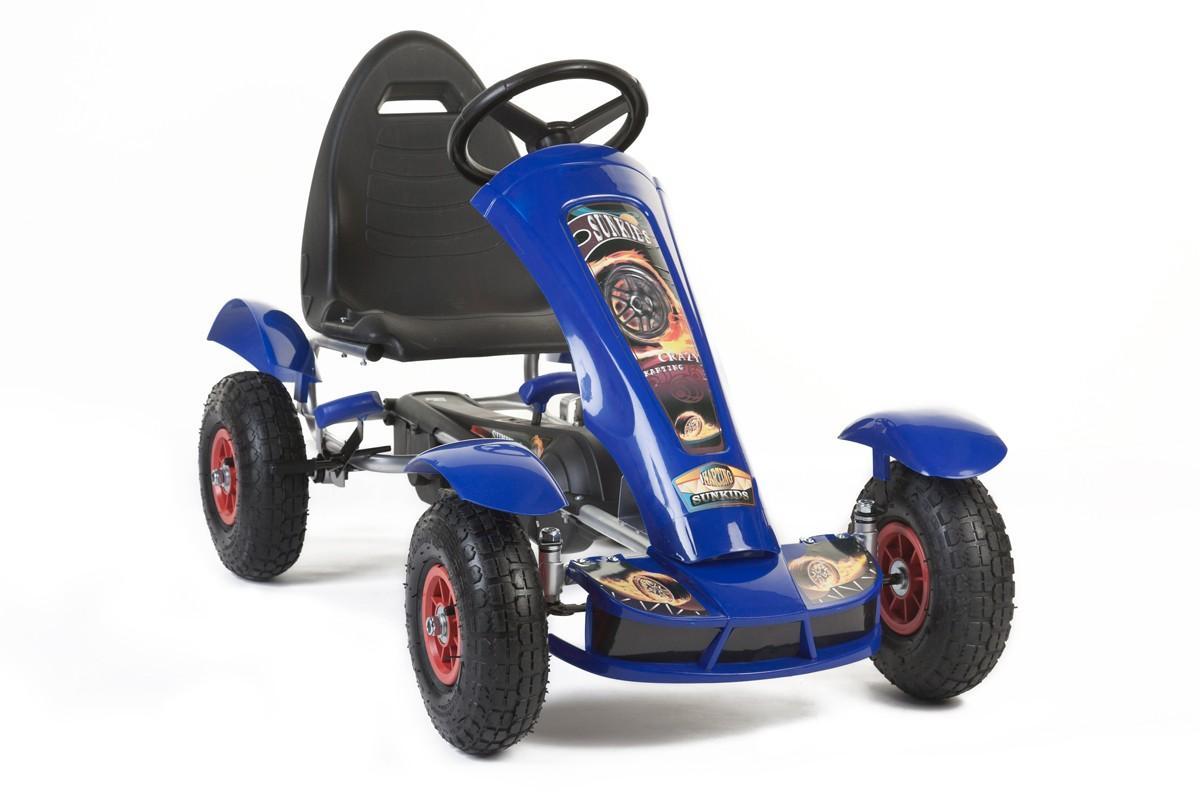 Šlapací čtyřkolka Go-Kart F618 modrá