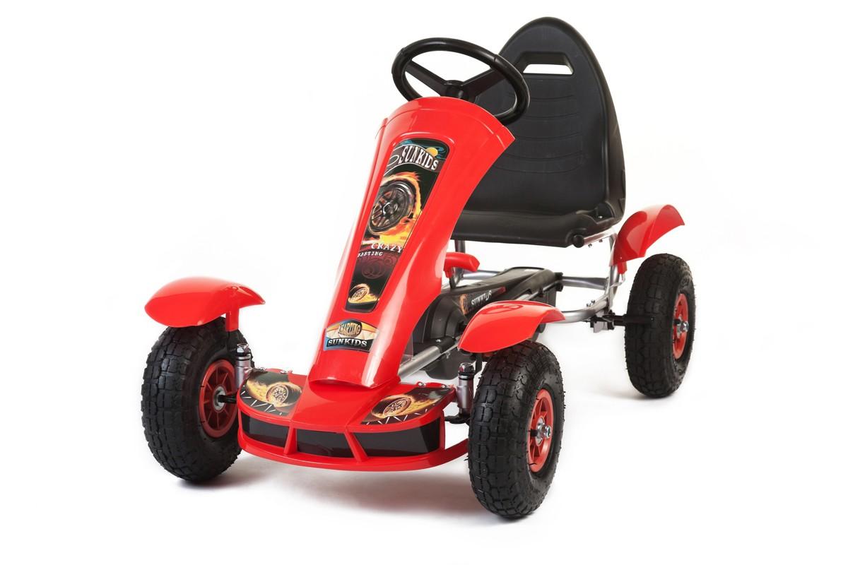 Šlapací čtyřkolka Go-Kart F618 červená